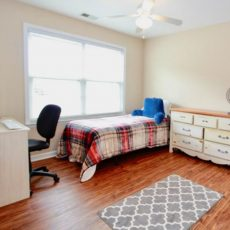 Call in a bedroom upstairs at a house in Powder Springs Georgia