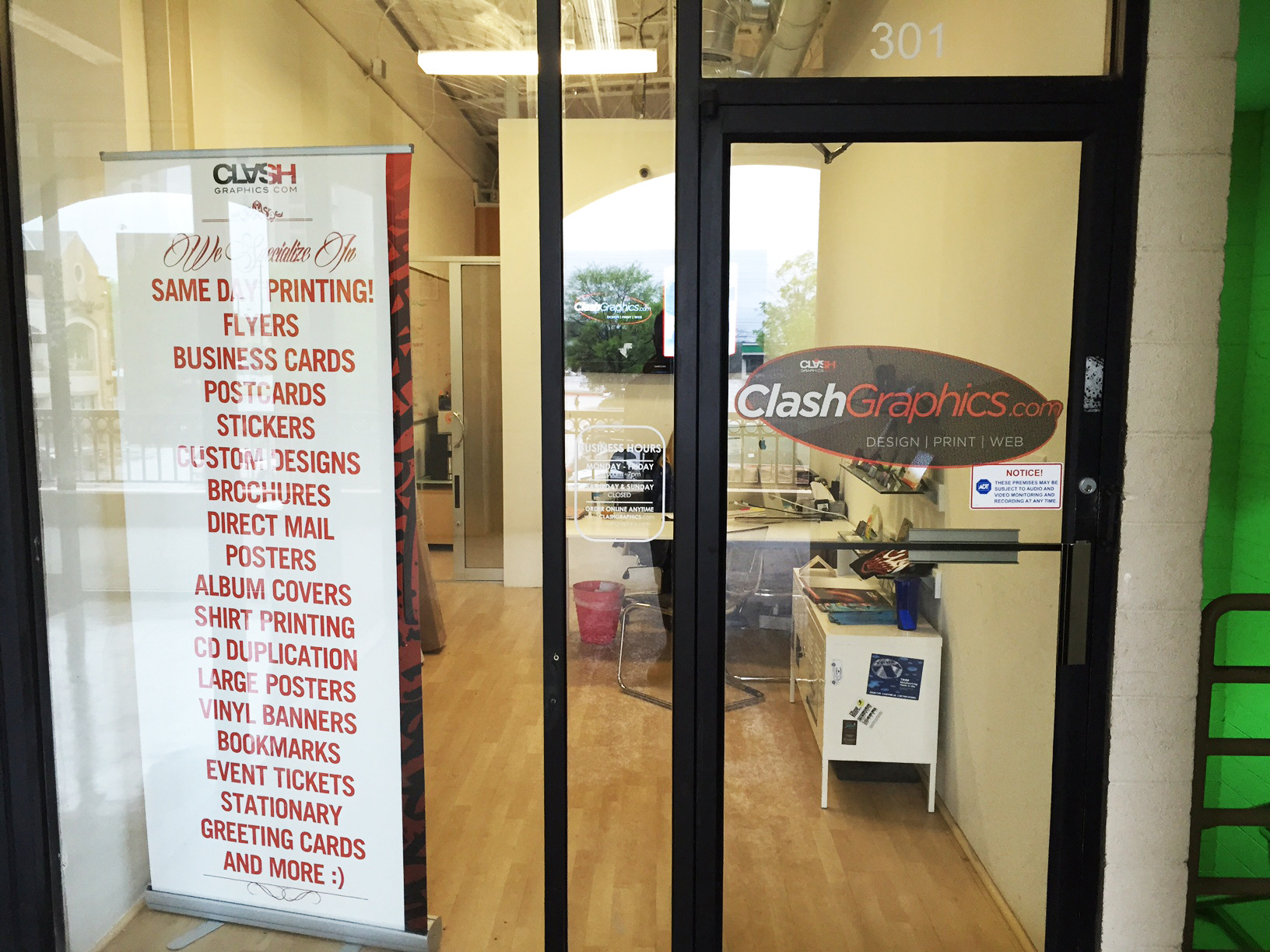 clash graphics print shop atlanta flyer printing